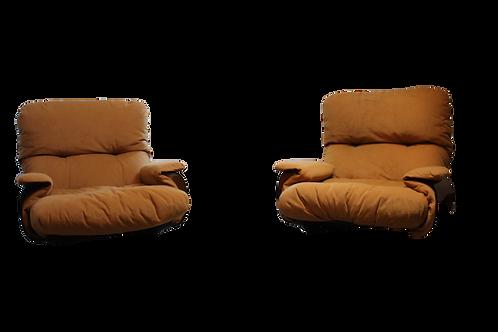Paire de fauteuils années 70 Michel ducaroy Ligne Roset