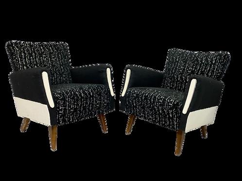 Paire de fauteuils vintage forme cube année 1960 REF/BARBARA