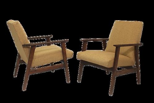 Paire de fauteuils conçus par Henryk Lis 1970.