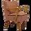 Thumbnail: Fauteuil vintage année 50 restauré. Ref Chantal