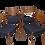 Thumbnail: Set de 4 chaises en teck  Cees Braakman pour Pastoe 1960.Ref Marino.