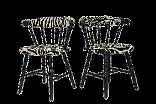 """Paire de chaises """"Western"""", saloon, vintage, années 50 restaurée."""