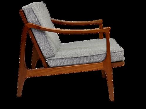 Elégant Fauteuil design scandinave 1960 en teck.REA MOA