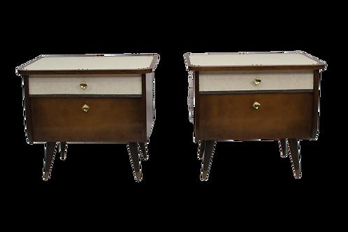 Paire tables de chevet 50, 60 restaurée.