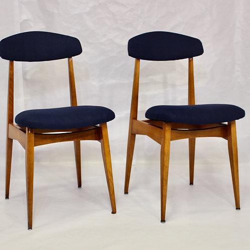 Lot de 2 chaises en teck, Danois des années 1960