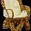 Thumbnail: Fauteuil vintage en rotin année 60 pieds papillons.ref RIGA