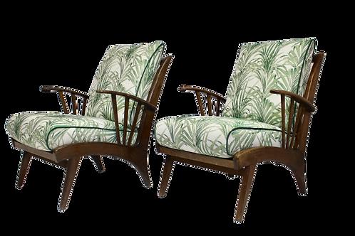 Paire de fauteuils vintage style  Ercol retapissée.