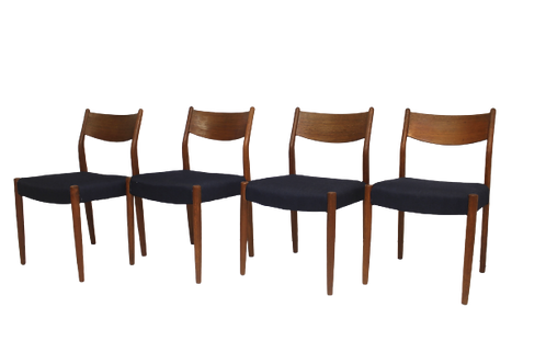 Set de 4 chaises en teck  Cees Braakman pour Pastoe 1960.Ref Marino.