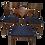 Thumbnail: Set de 3 chaises en teck, scandinave année 1960 entièrement restaurées