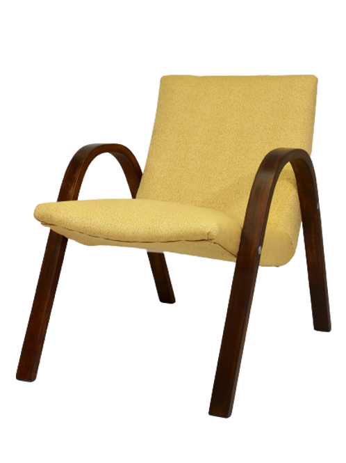 Fauteuil Bow Wood Steiner vintage 1950 ref PAPAYE
