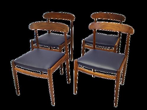 TORO Lot de 4 chaises scandinaves 1960