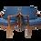 Thumbnail: Paire de fauteuils style scandinave années 60 tissu bleu.Ref OSLO