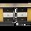 Thumbnail: Paire de tables de chevet bicolore relookée noir et blanc .REF PAOLA