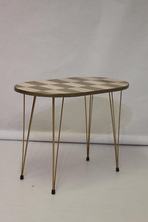 Table basse vintage année 50/60 Formica bicolore pliable