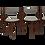 Thumbnail: Lot de 4 chaises d'Hans Olsen pour Frem Rojl Danemark.REF HANS OLSEN