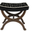 Thumbnail: Tabouret Empire 1900 acajou retapissé.