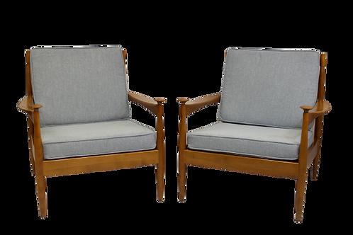 Paire de fauteuils scandinave en hêtre année 60.REF/ BOHEME