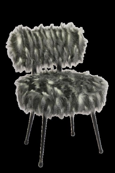 La chaise Pelfran fait fureur. Fourrure douillette et colorée.Ref RENARDO