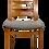 Thumbnail: Set de 4 chaises scandinave année 50 restaurées tissu texturé effet chevron. ref