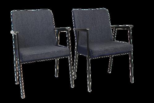 Paire de fauteuils par Mauser, 1960 bis matières Bleu nuit