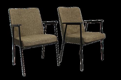 Paire de fauteuils par Mauser, 1960 bis matières marron