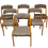 Thumbnail: Set de 6 chaises réf: gondole Baumann année Ref: GANDOLE70 restaurées.