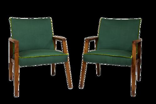 Paire de fauteuils vintage année 60 entièrement restaurée.Ref Prestige