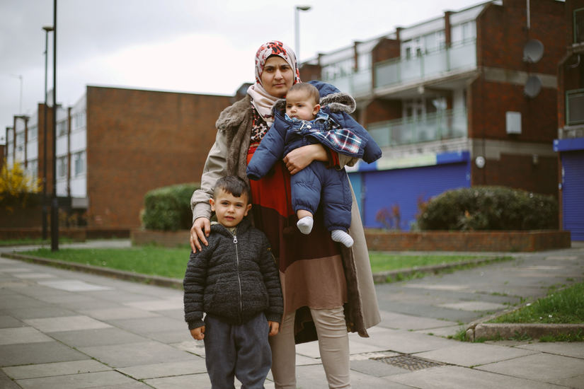 This is Maydah Al Saleh. After living in a refugee camp for 2-3 years she came with her family to the UK via Jordan.