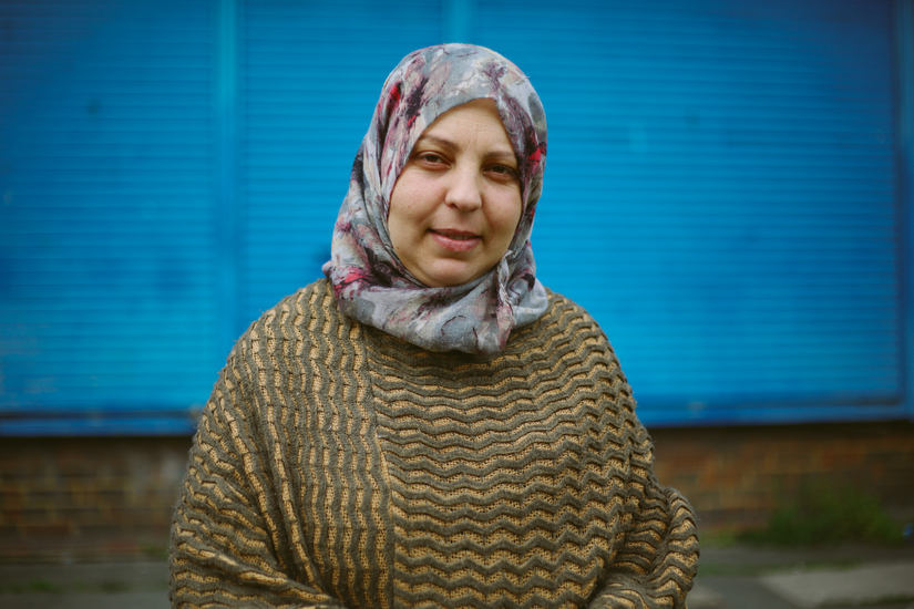 DISPLACED : A story about Syrian refugees.  This is Hayat Abdullah, she has been in the UK for 9 months.