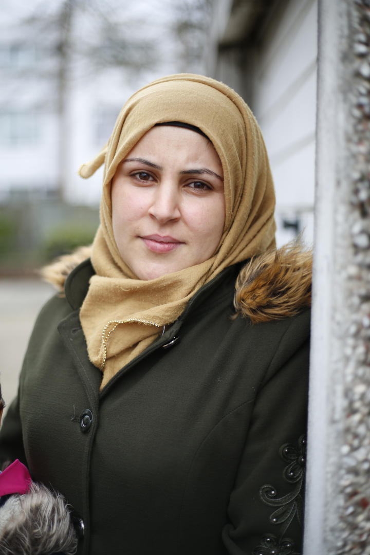 'What would you like to say to people in the UK that have a negative view of refugees coming to the UK?'    'I don't know what to say to them, because we didn't come to this country out of love for Britain, we didn't come here because we just liked the idea of staying here. We have been forced to come here because it is not safe in Syria. We tried to live in Lebanon when we first left Syria, but they have no respect for Syrians. They treat animals better than they treat Syrians there. We came here looking for the respect that we deserve, even though it is not our country, we are not here begging, we want to work. All we want is to be respected and we respect others if they do the same to us. We cannot change these people's views of refugees, they can only change it themselves by seeing what we are doing here. '