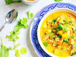 Creamy Chicken Curry with Coconut Milk and Cauliflower Rice