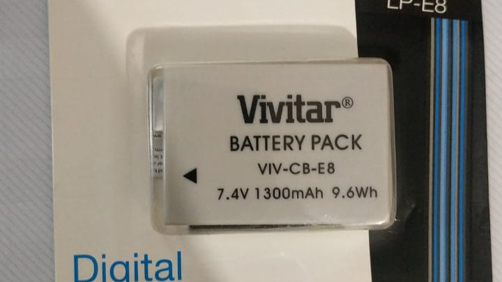 Bateria Vivitar E8 para Canon T2i,T3i,T4i,T5i