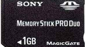 Cartão de Memória Sony Memory Stick Pro Duo 1GB