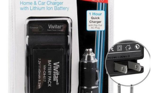 Bateria Vivitar E17 com carregador