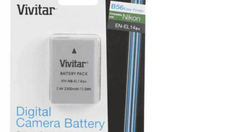Bateria Vivitar EL14 para Nikon D5600 D5200 D3500 D3200
