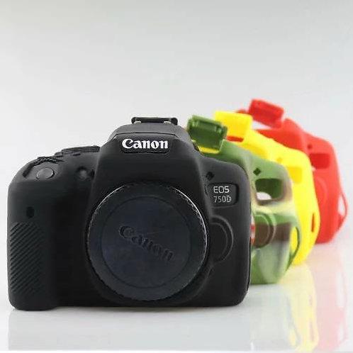 Capa de Silicone Canon 6D PRETA