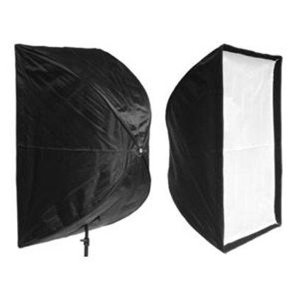 Softbox guarda-chuva de 60x60cm com Abertura Rápida Para Flash de Studio