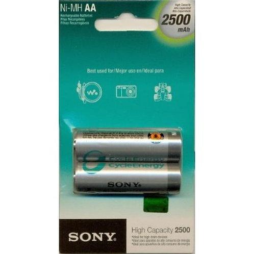 Pilhas Recarregáveis Sony AA 2500 Mah