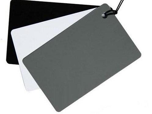Cartão Cinza 3 em 1 para Balanço de Branco