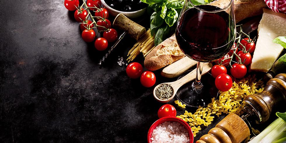 Mediterrane Küche mit Kräutern