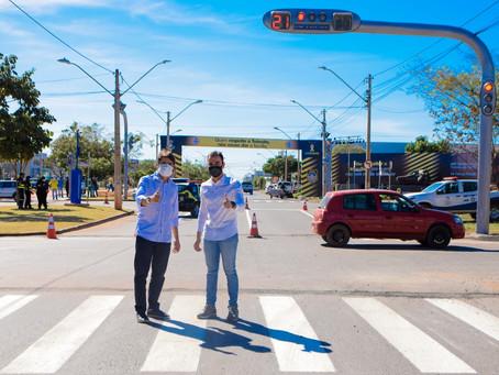 1º etapa da Nova JK está concluída com abertura dos retornos e funcionamento dos semáforos