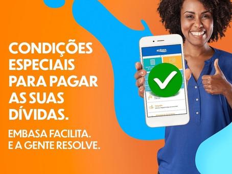Embasa prorroga até dia 29 de janeiro condições especiais para quitação de débitos