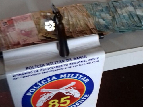 85ª CIPM prende dois indivíduos que roubaram distribuidora de bebidas em São Desidério