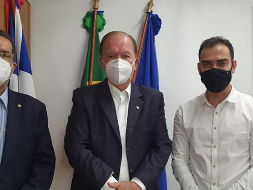 Salvador: Prefeito e secretário de Governo de LEM se reúnem com principais secretários do Estado