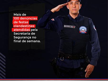 LEM: Secretaria de Segurança recebe mais de 100 denúncias de festas clandestinas no final de semana