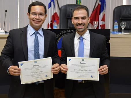Júnior Marabá e Filipe Fernandes são diplomados prefeito e vice em Luís Eduardo Magalhães