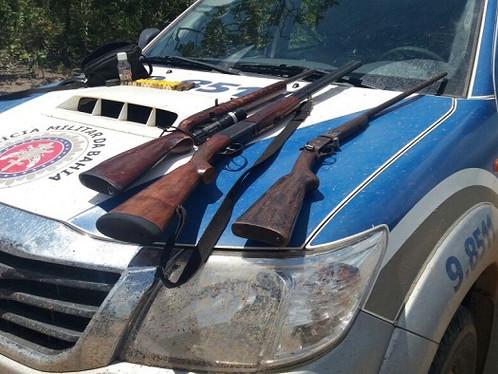 85ª CIPM apreende 03 armas de fogo em final de semana produtivo da operação safra
