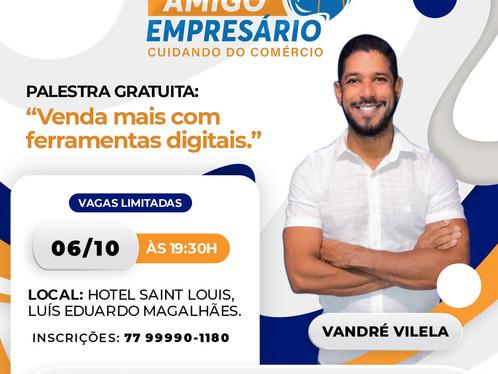 Indústria e Comércio de Luís Eduardo Magalhães realiza amanhã (06), a palestra gratuita
