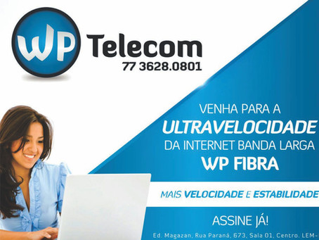 WP TELECOM - INTERNET DE ULTRAVELOCIDADE