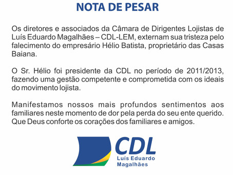 Nota de Pesar - CDL-LEM